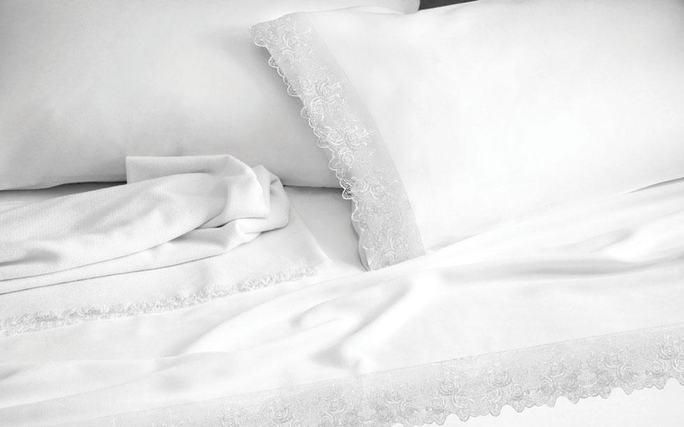 Lace White - Σετ Κουβερλί Υπέρδιπλο Makis Tselios - morfeohome
