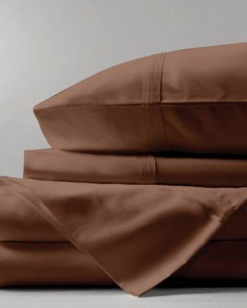 Solid Brown - Ζεύγος Μαξιλαροθήκες Makis Tselios - morfeohome