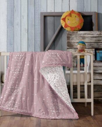 Luna Pink - Κουβερλί Βρεφικό 100Χ140 Makis Tselios - morfeohome