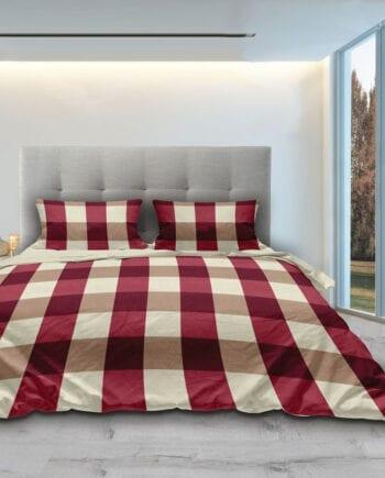 Piazze Red - Σετ Παπλωματοθήκη King Size 240Χ260 Makis Tselios